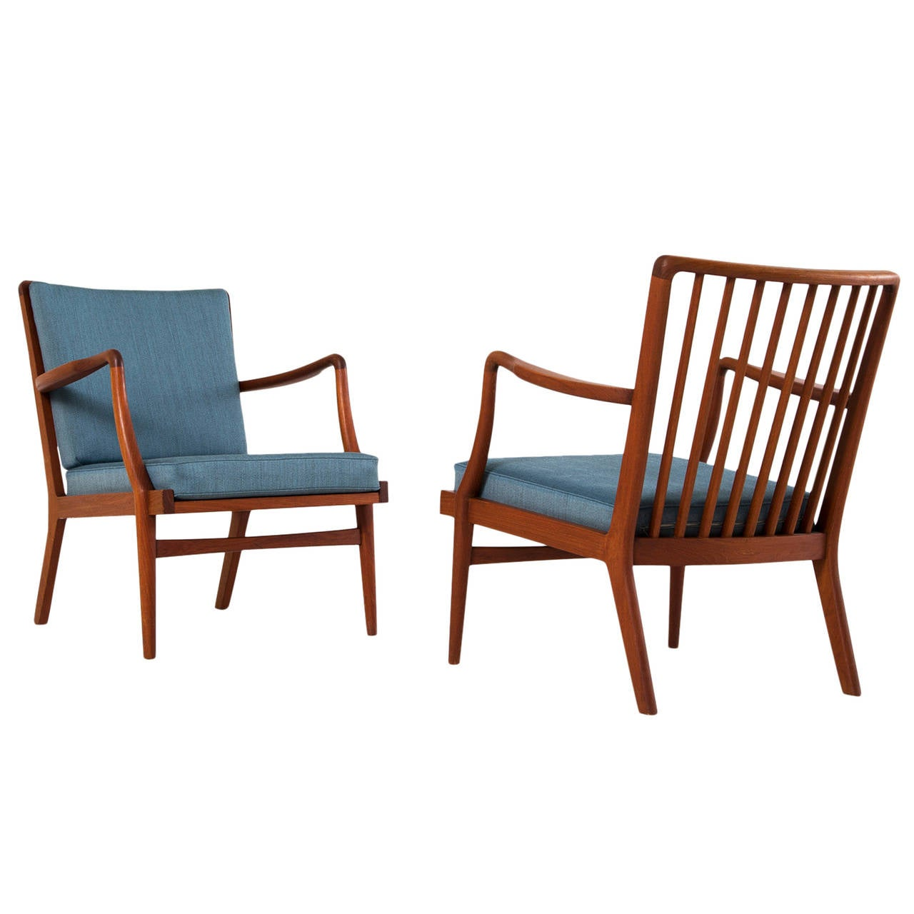 Solid Teak Lounge Chairs By Peder Christensen For Sale At 1stdibs