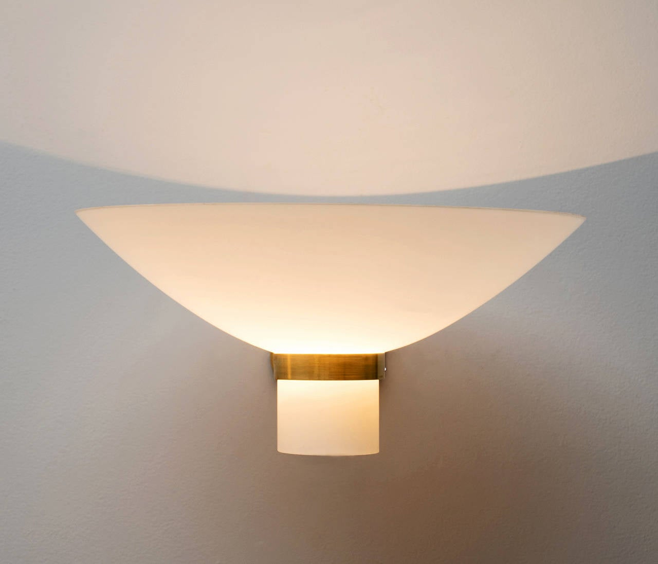 1 Large wall light by Lyfa, solid brass and opal glass For Sale at 1stdibs