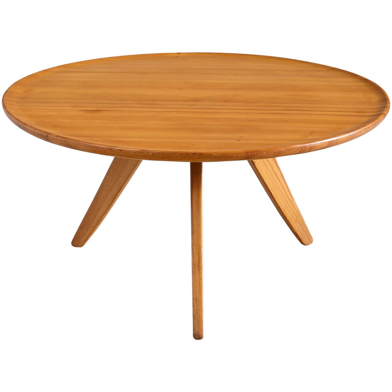 Carl malmsten cocktail table in solid pine wood for sale for Solid coffee table