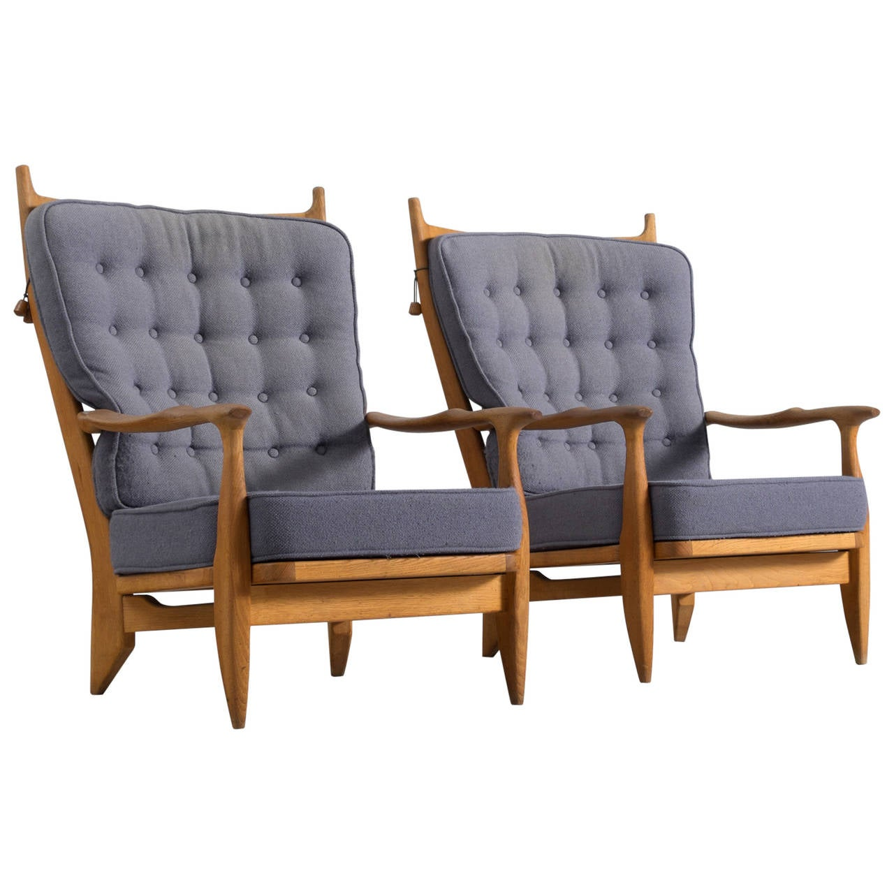 Guillerme And Chambron High Back Lounge Chair For Sale At 1stdibs