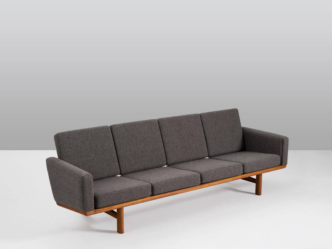 hans j wegner sofa model ge 236 4 for getama for sale at 1stdibs. Black Bedroom Furniture Sets. Home Design Ideas