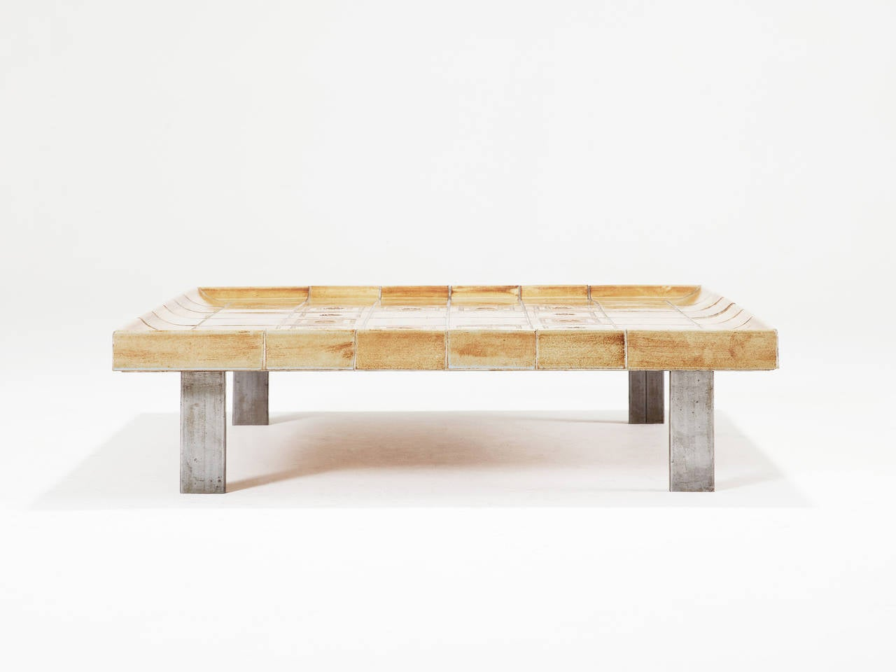 Roger Capron Signed Coffee Table For Sale At 1stdibs