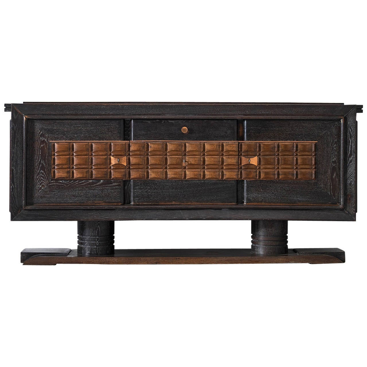 Charles Dudouyt Dark Stained Credenza