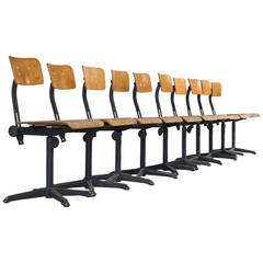 Friso Kramer Set of Ten Architect Chairs