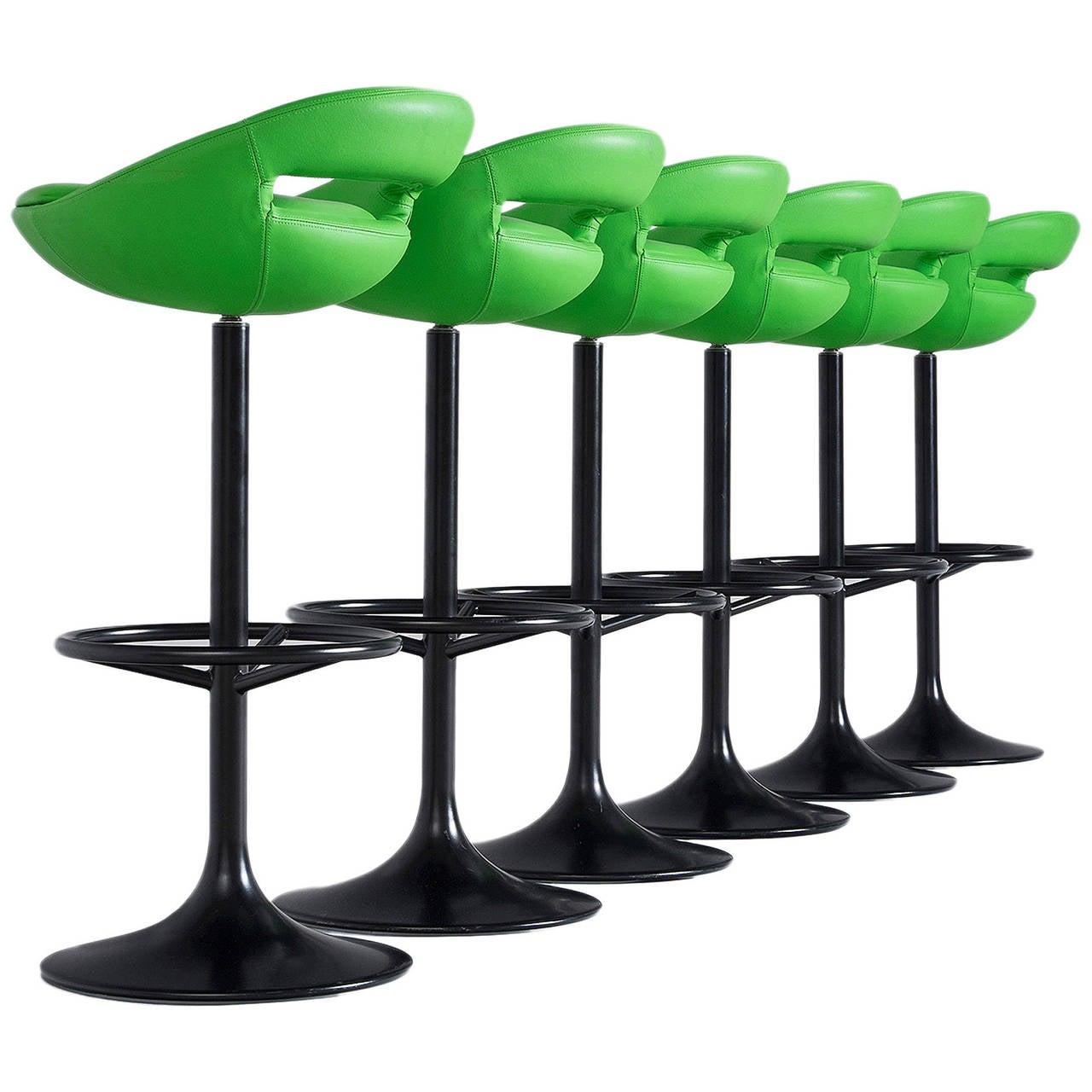 black leather bar stools 120 for sale on 1stdibs