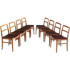 Arne Vodder Set of Dining Chairs in Teak