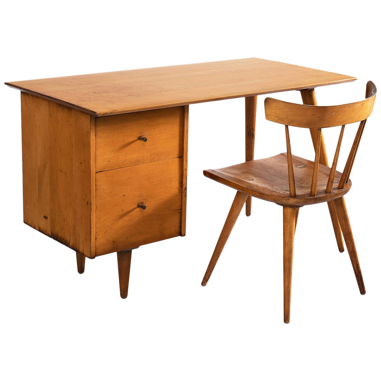 Paul McCobb Desk and Chair at 1stdibs