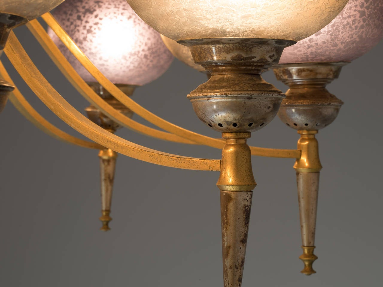 Stunning Chandelier With Decorative Shades And Details For