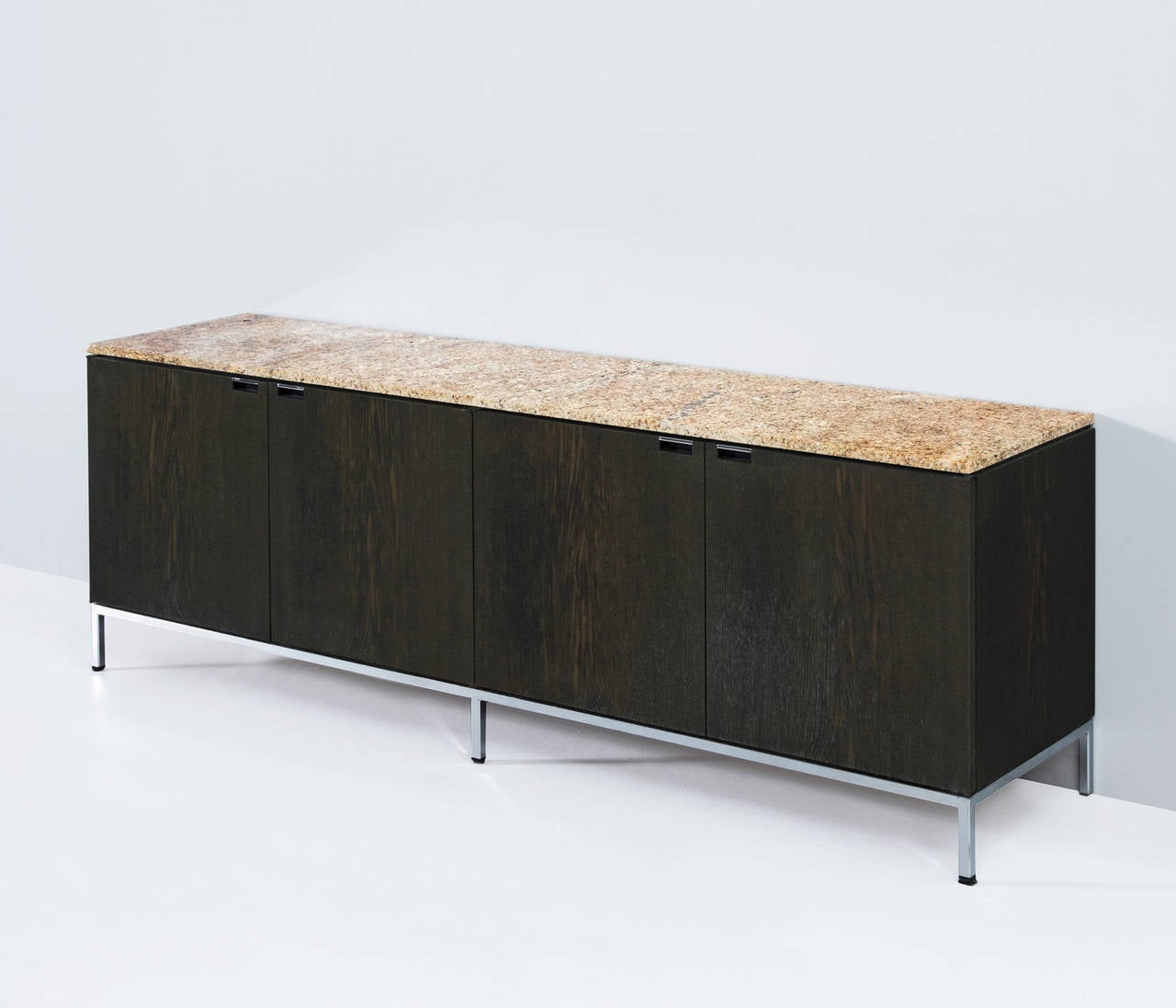 florence knoll sideboard with marble top for knoll. Black Bedroom Furniture Sets. Home Design Ideas