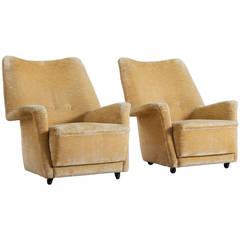Pair of Italian Lounge Chairs, 1950s