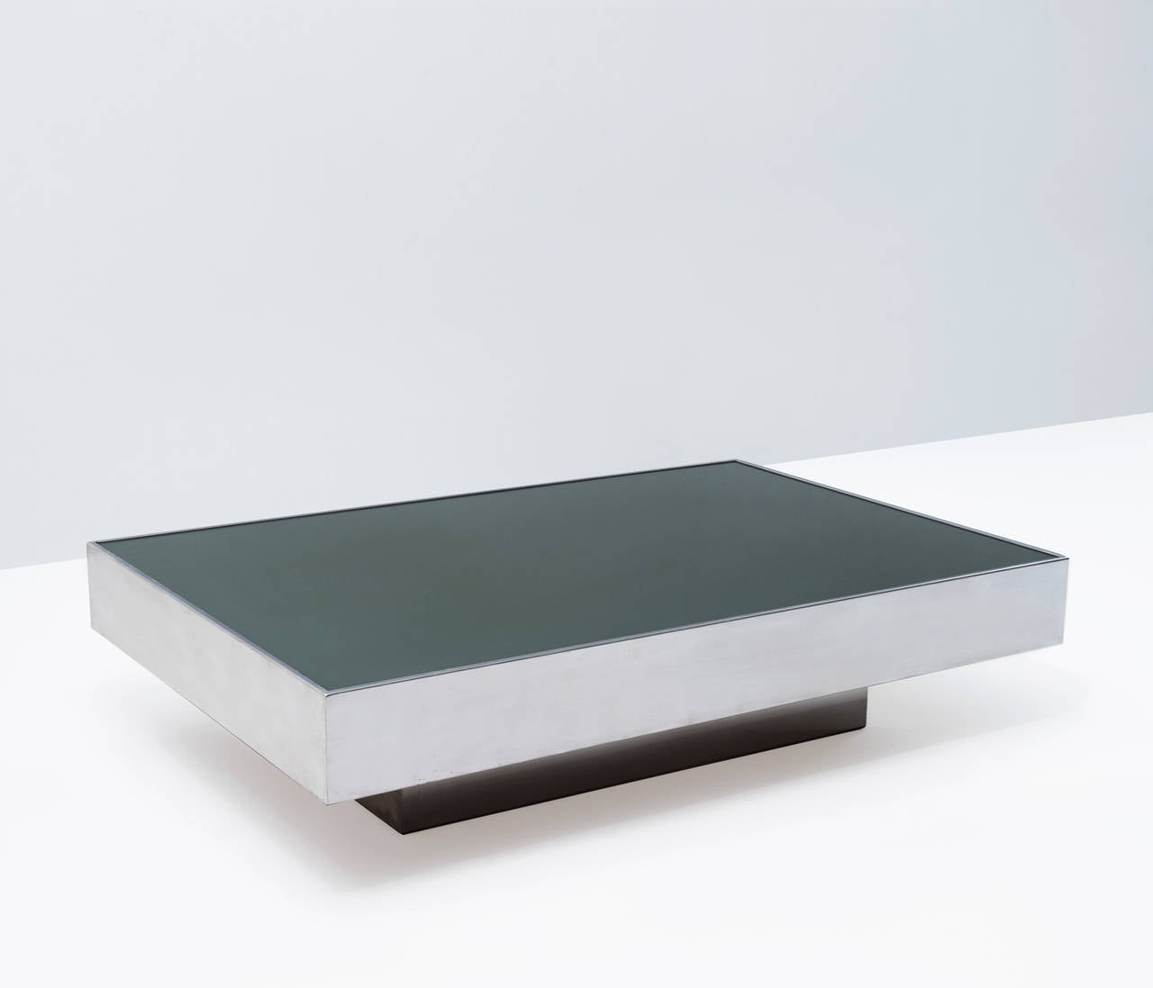 Chrome Coffee Table Items: Chrome Coffee Table Green Glass Top For Sale At 1stdibs