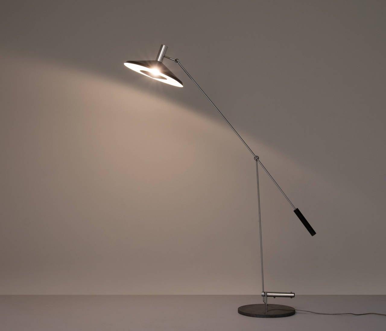 Mid-Century Modern Rico & Rosemarie Baltensweiler Floor Lamp For Sale