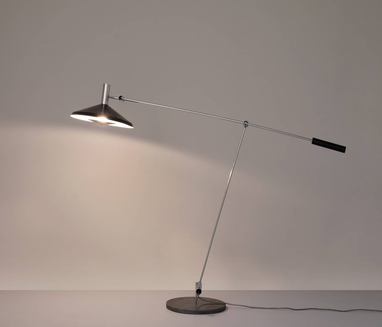 Floor lamp model 600, in metal, by Rico & Rosemarie Baltensweiler, Switzerland 1960s. 