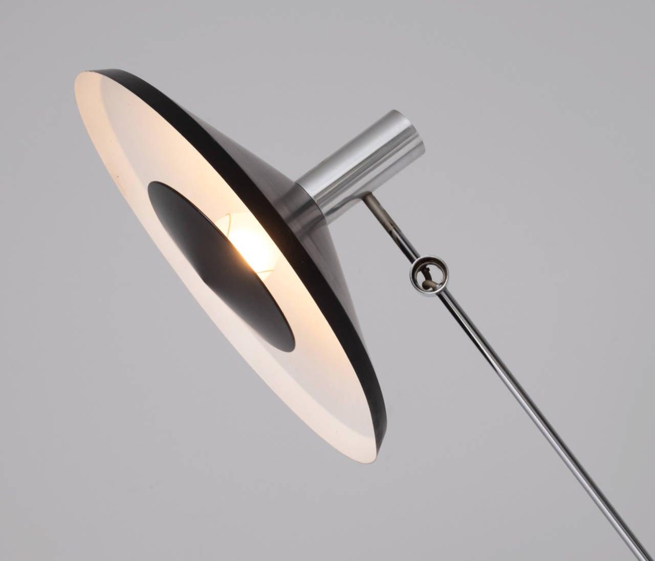 Rico & Rosemarie Baltensweiler Floor Lamp In Good Condition For Sale In Waalwijk, NL