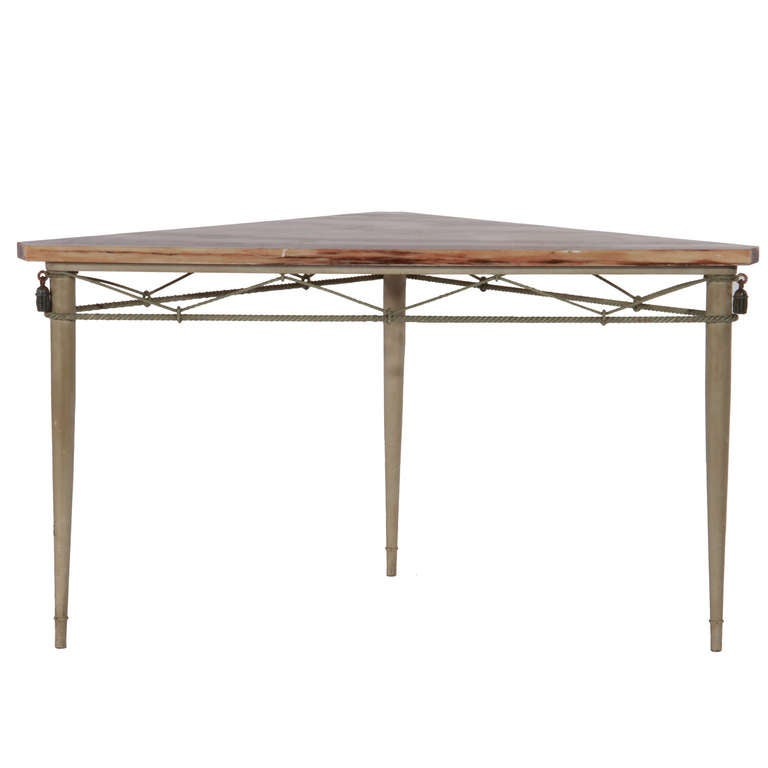 Jansen of paris painted metal table with marble top at 1stdibs for 13 a table paris