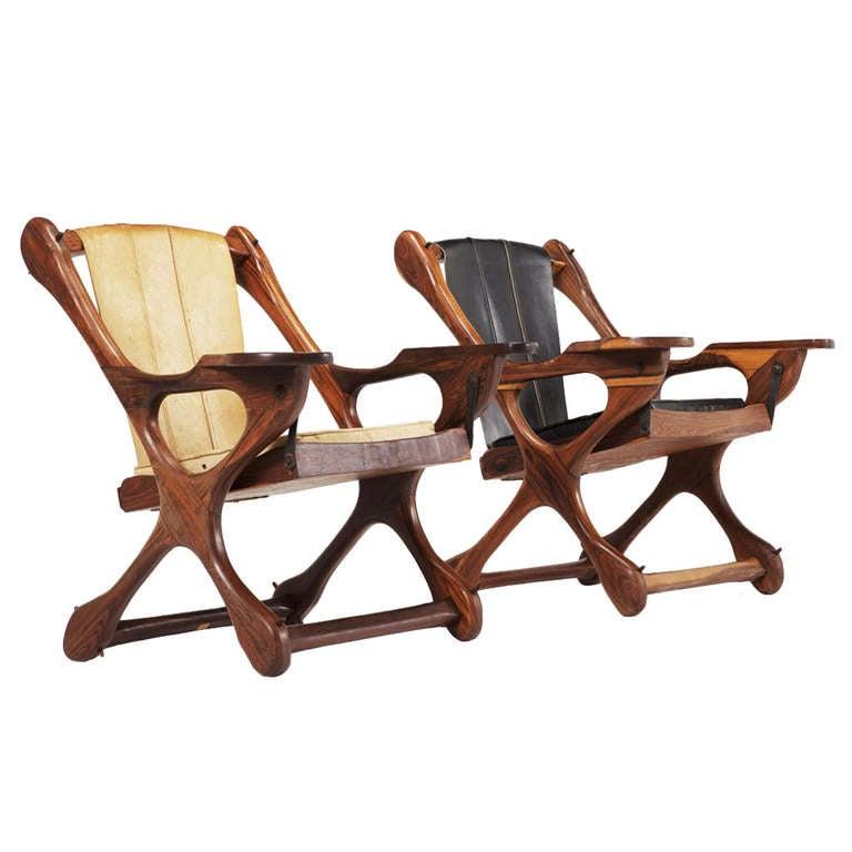 pair of 39 swinger 39 sling chairs by don shoemaker se al. Black Bedroom Furniture Sets. Home Design Ideas