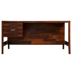 Rare Rosewood Desk by Jorge Zalszupin