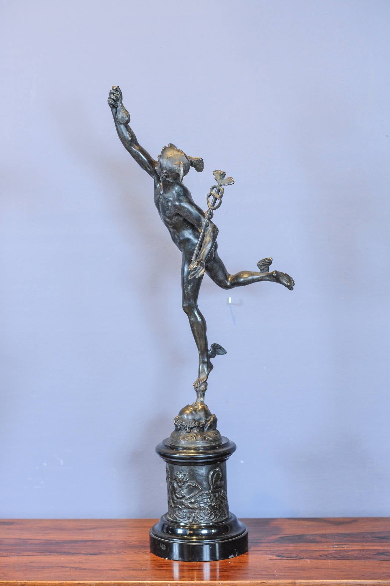 A large patinated bronze sculpture of hermes mercury - Bronze sculptures for sale ...
