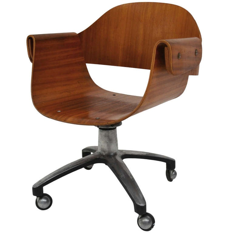 Chair For Desk In Plywood 50 S At 1stdibs