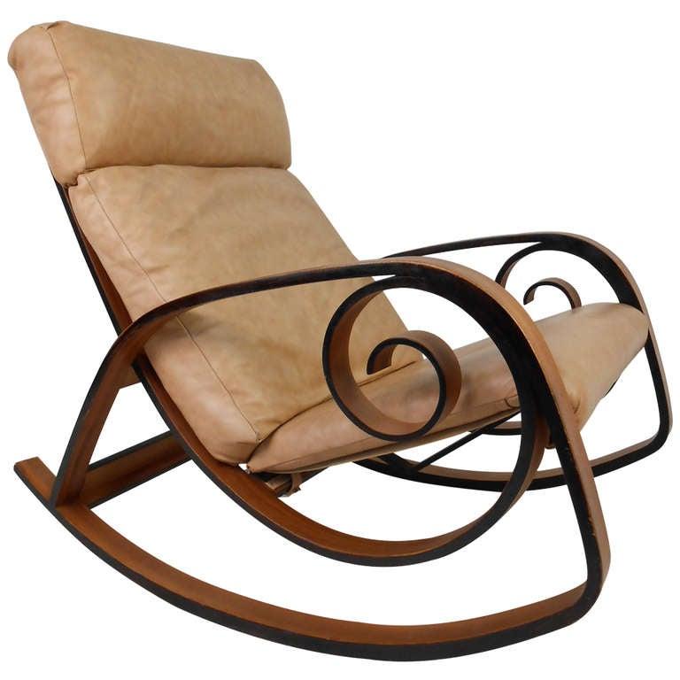 Bentwood Rocking Chair At 1stdibs