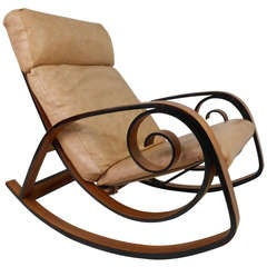 Danish Modern Bentwood Rocking Chair