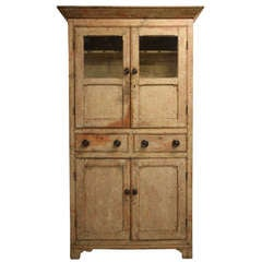 Original Painted Pine Georgian Antique Cupboard