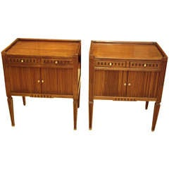 Pair Louis XVI style side tables