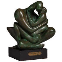 A Bronze Table Sculpture by Augusto Escobedo 1960s