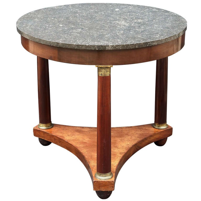 french marble top table gueridon in the empire style at
