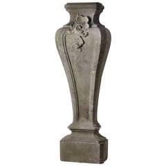 18th Century Belgian Bluestone Pedestal in Rococo Style