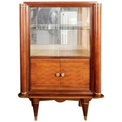 Jules Leleu French Art Deco Rosewood Marquetry Vitrine