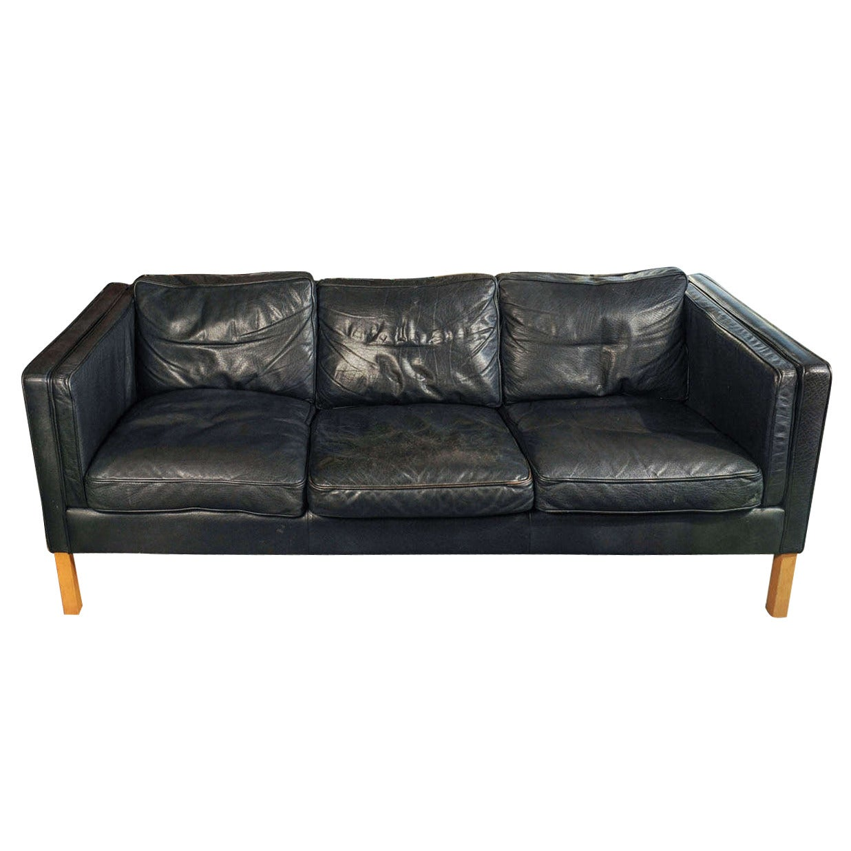 A Vintage Børge Mogensen 3 Seat Sofa By Stouby For