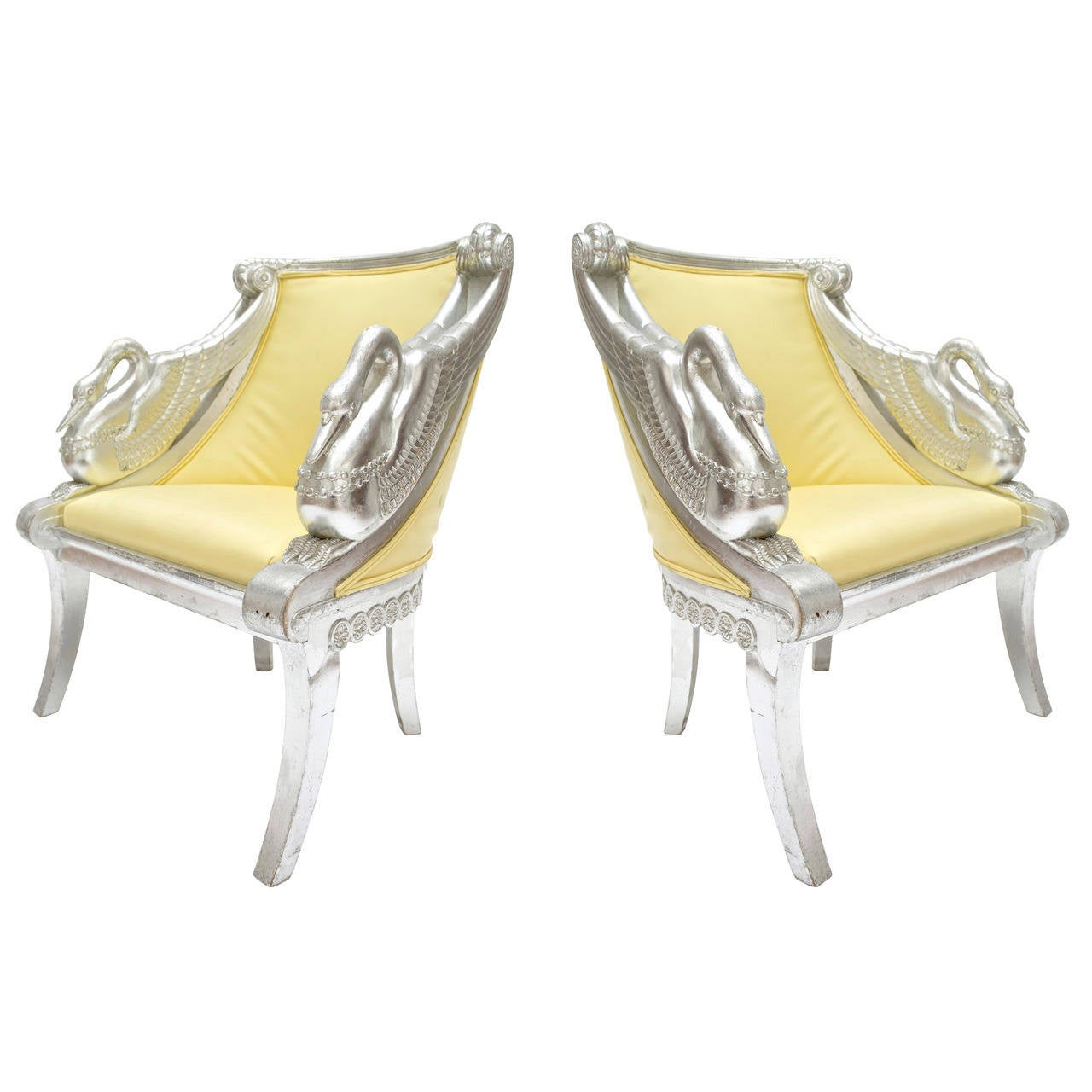Pair Of Philippe Starck Swan Armchairs For