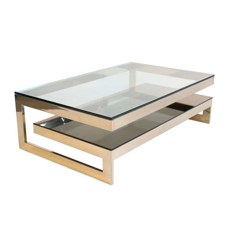 23 kt gold layered coffee table at 1stdibs
