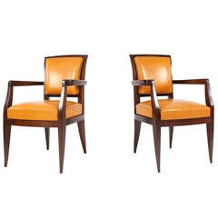 Pair of Armchairs by Jacques-Emile Ruhlmann