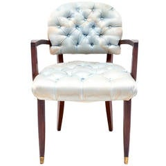 Jules Leleu Art Deco Mahogany Armchair