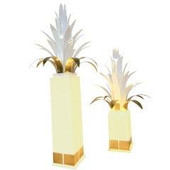 Pair of Theo Verhulst Palm tree Floorlamps
