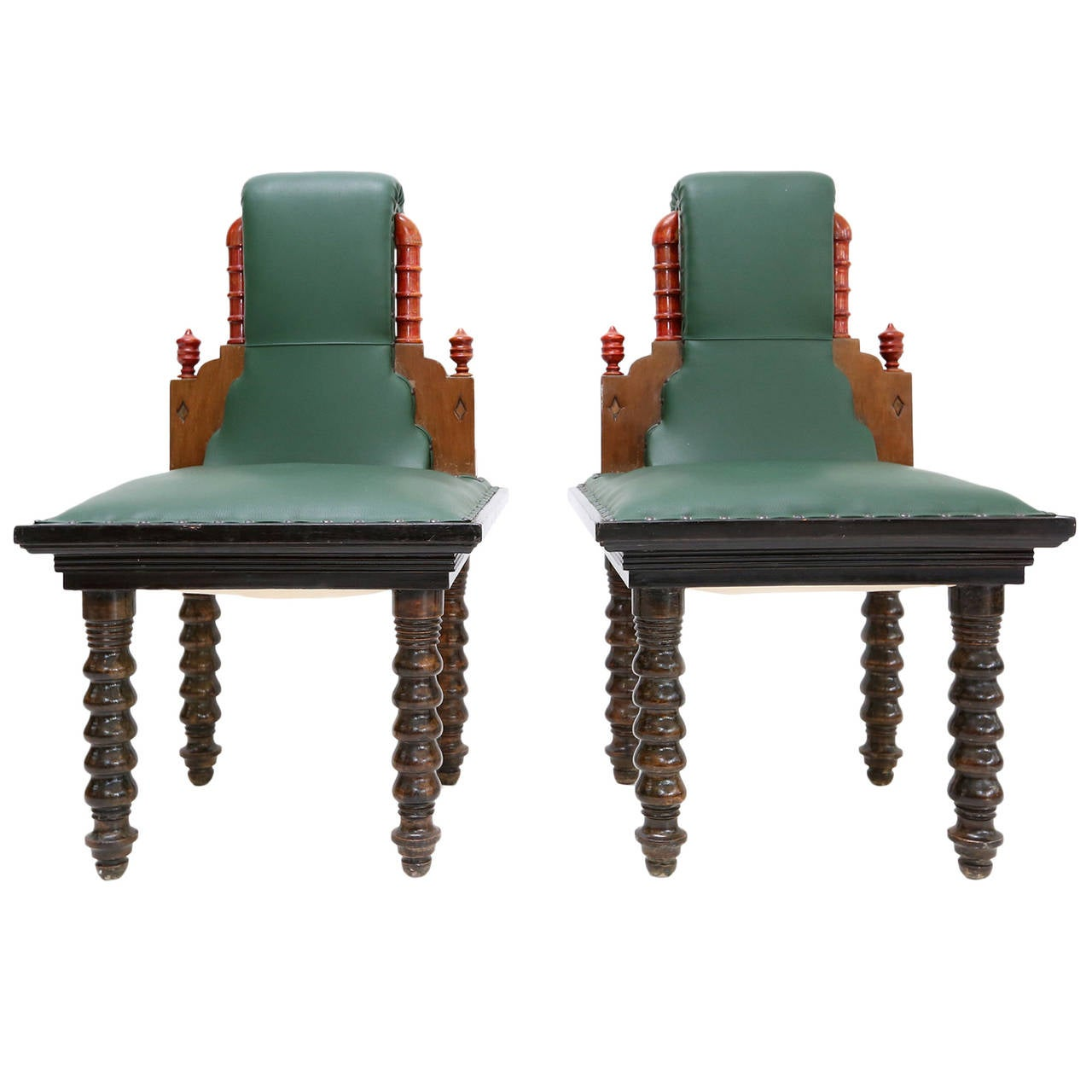 Pair Of Early 20th Century Italian Chairs At 1stdibs