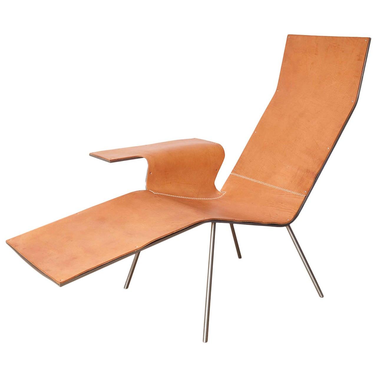 Maarten van severen lounge chair ll04 at 1stdibs for Chaises longues aluminium
