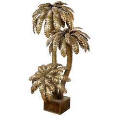 A Monumental Brass Palmtree Floorlamp By Maison Jansen