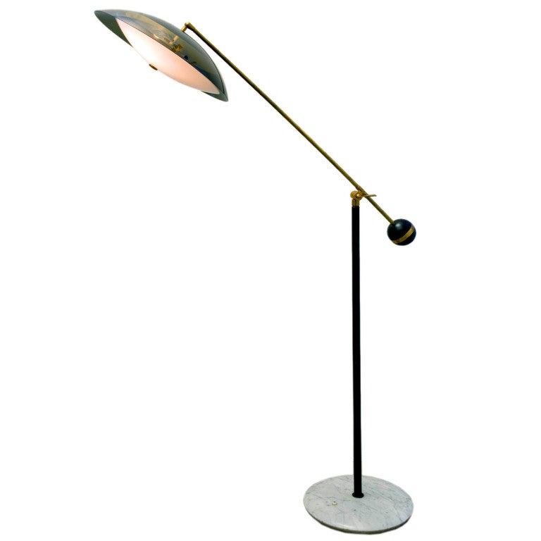 italian articulated floor lamp edited by stilux at 1stdibs With led articulated floor lamp