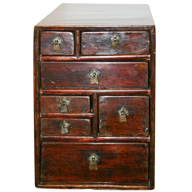 Antique Chinese Miniature Nanwood Medicine Chest At 1stdibs