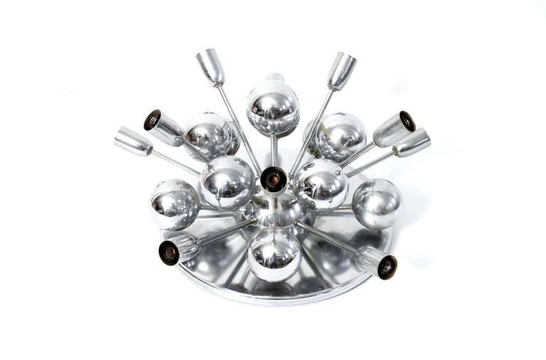 ceiling mounted chrome sputnik chandelier at 1stdibs