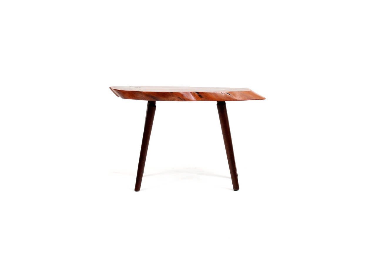 American Craftsman Roy Sheldon Free Edge Table For Sale