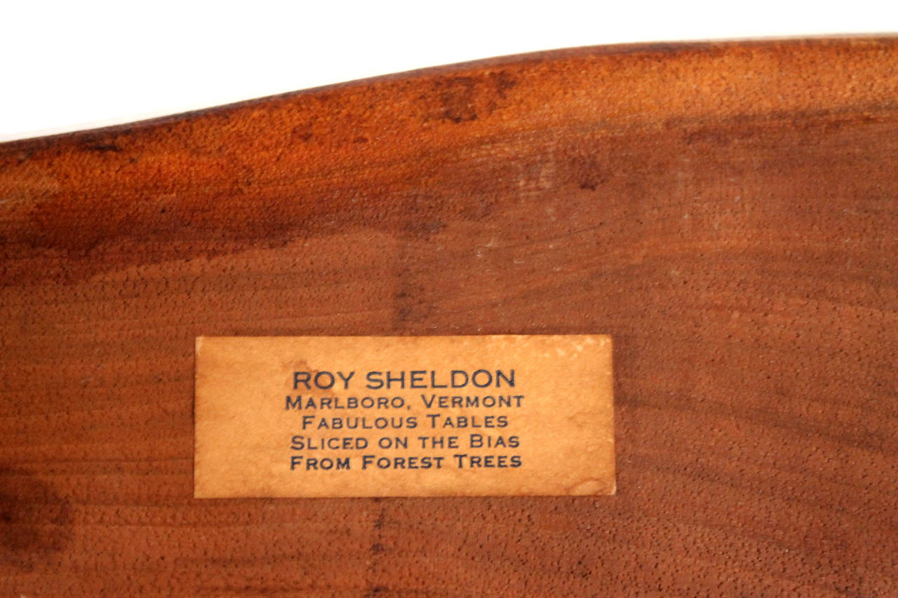 Roy Sheldon Free Edge Table For Sale 3