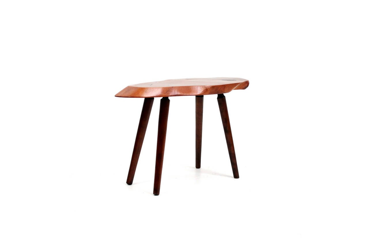 American Roy Sheldon Free Edge Table For Sale