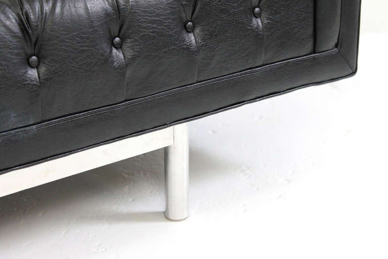 Aluminum Jack Cartwright Chesterfield Tufted Sofa For Sale