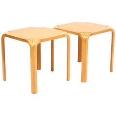 "Alvar Aalto for Artek ""Fan Leg"" Side Tables"