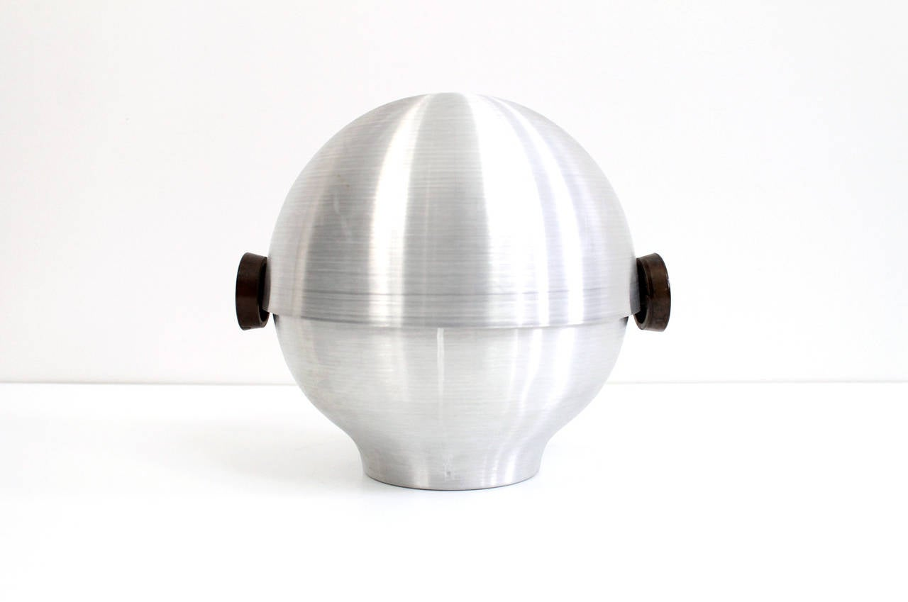 Rare and Early Russel Wright Aluminum Vessel In Excellent Condition For Sale In Belmont, MA