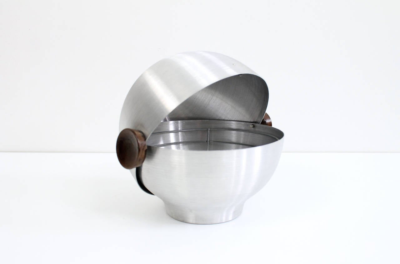 Mid-Century Modern Rare and Early Russel Wright Aluminum Vessel For Sale